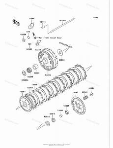 Kawasaki Motorcycle 2003 Oem Parts Diagram For Clutch