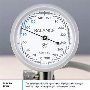 Balance Blood Pressure Monitors Manual Cuff Hand Holding