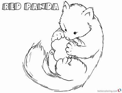 Panda Coloring Pages Happy Printable Adults