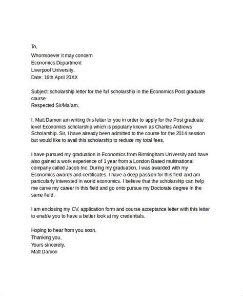 7 sle scholarship application letters pdf doc