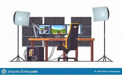 Setup Equipment Streaming Pc Gaming Foam Acoustic