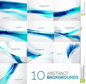 Set Of Business Flowing Waves Stock Vector - Image: 47122695