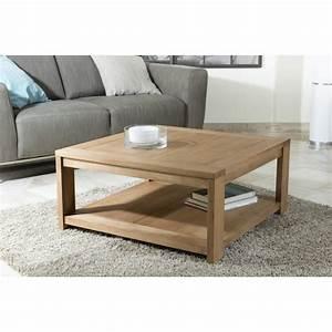 Table Basse Carrée : table basse carr e 80x80 bois massif jule so inside ~ Teatrodelosmanantiales.com Idées de Décoration