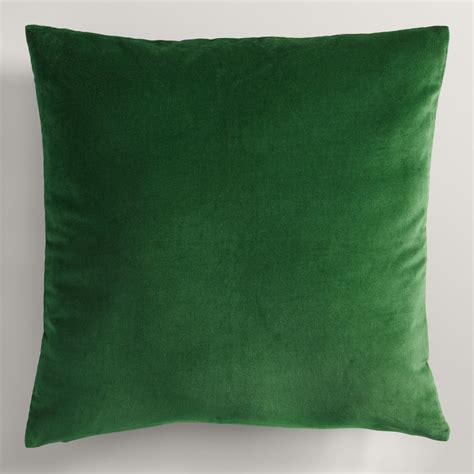 green throw pillows green velvet throw pillow world market