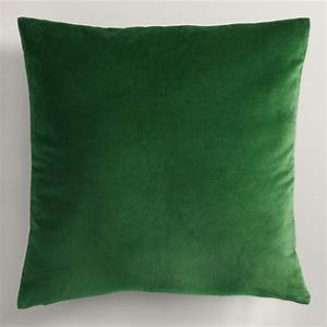 Green velvet throw pillow world market for Throw pillows green