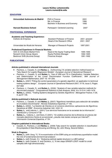 hbs resume resume ideas