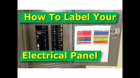 Electric® to label an electrical panel safely… partner up. Electrical Panel Schedule Template Pdf ~ Addictionary