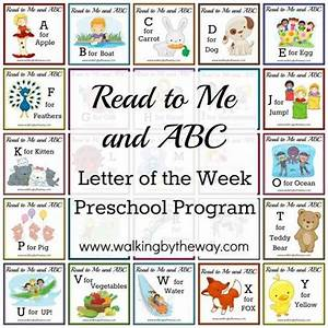 free letter of the week preschool program read to me With letter of the week books