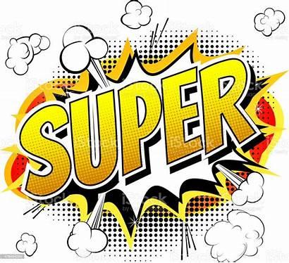 Comic Word Super Vector Bubble Alphabet Speech