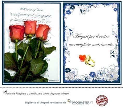 biglietto  frase auguri matrimonio
