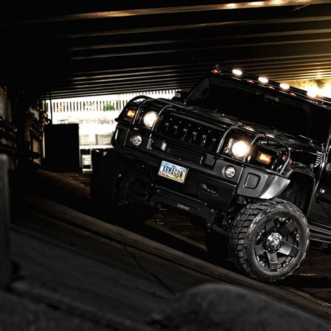/ Hummer H2, Black, Wallpaper Wallpapers And Backgrounds