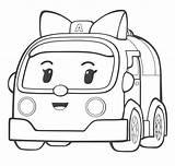 Coloring Pages Poli Robocar Cartoon Characters Amber Printable Ambulance Drawing Sheets Coloriage Mewarnai Gambar Cars Books Draw Oncoloring sketch template