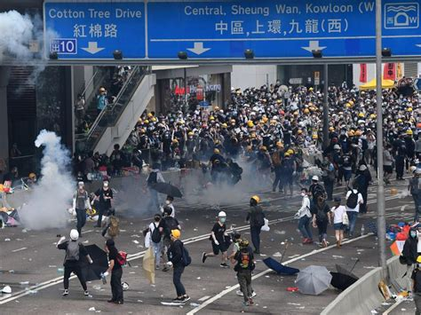 Hong Kong Police Use Tear Gas, Rubber Bullets In Clash