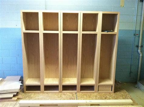 wood lockers  progress