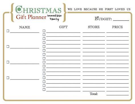 christmas gift organizer printable for the home pinterest