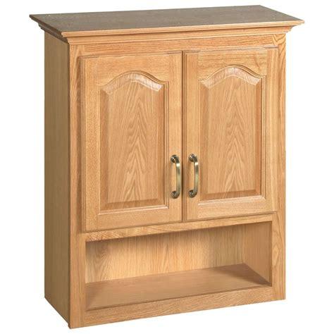Bath Storage Cabinet by Design House Richland Nutmeg Oak Bathroom Wall Cabinet New
