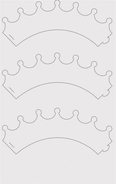 Free Printable Princess Crown Template by Paper Crown Templates For Prince Princes Print Cut At