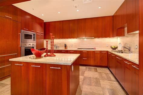 glass tile backsplash pictures for kitchen 23 cherry wood kitchens cabinet designs ideas
