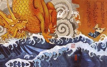 Samurai Dragon Japanese Wallpapers Tattoo Japan Monk