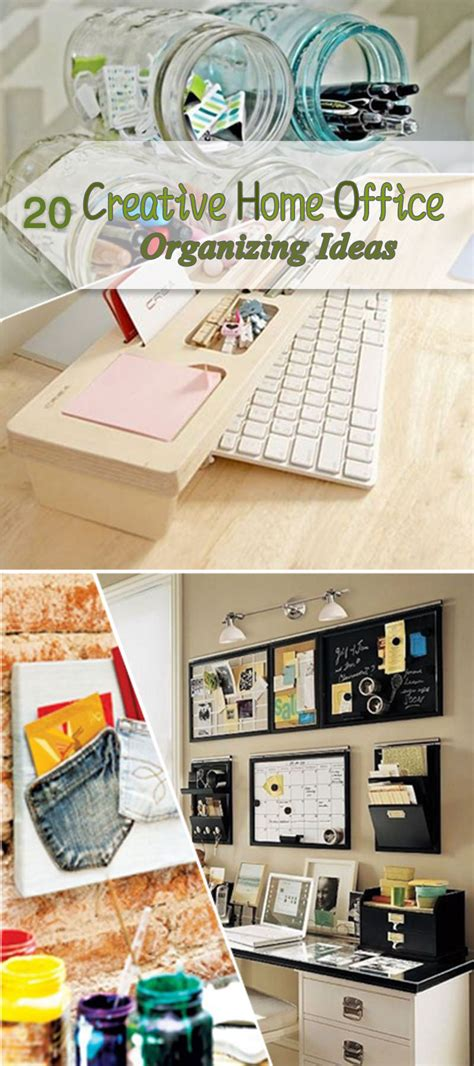 creative home office organizing ideas hative