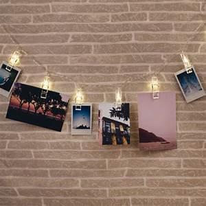 Guirlande De Photo : guirlande photo murale avec pinces led lumineuses sur rapid cadeau ~ Nature-et-papiers.com Idées de Décoration