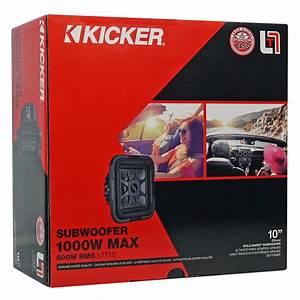 Kicker 46l7t104 10 U0026quot  1000w L7t Subwoofer Solo