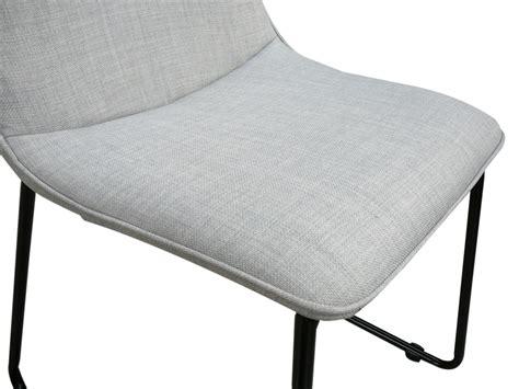 helsinki light grey linen dining chair w black legs ebay