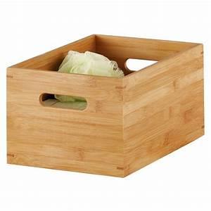 Caisse Bois Rangement : caisse de rangement en bois de bambou 30 x 20 x 14 cm zeller 13340 ~ Teatrodelosmanantiales.com Idées de Décoration