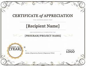 Certificate of appreciation microsoft word projects to for Downloadable certificate templates for microsoft word
