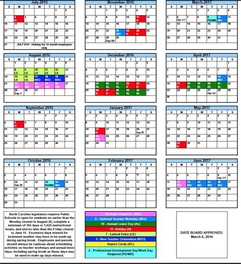 rcs calendars rutherford county schools