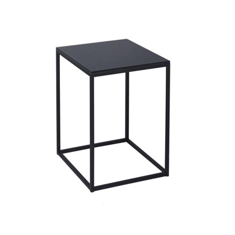 black metal end table buy black glass and black metal square side table from