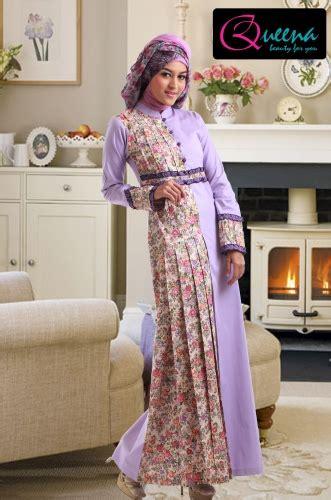 model long dress batik modern kombinasi brokat