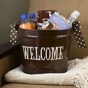 Pin by maria silver on guestroom inspiration pinterest for Wedding welcome gifts for out of town guests