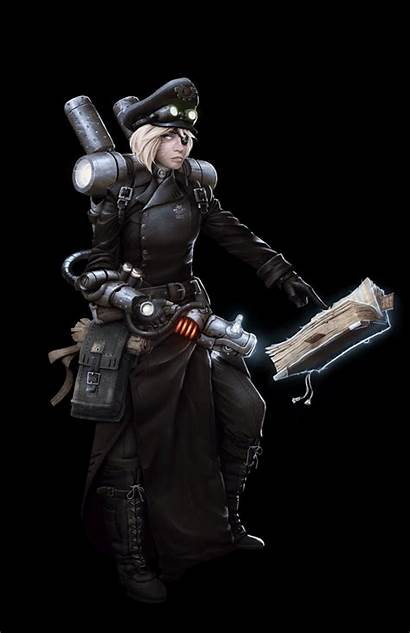 Steampunk Character Space Cosplay Drawing Artstation Mikko