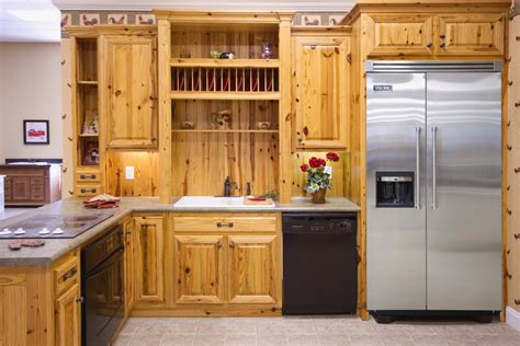 pine wood kitchen cabinets pine kitchens wood hollow cabinets 4229