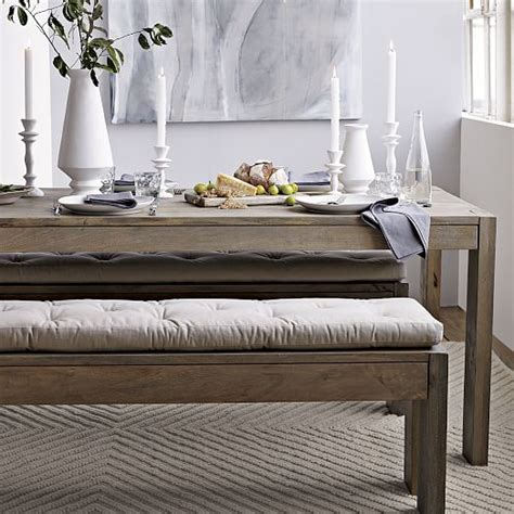 west elm bench table tufted dining bench cushion west elm