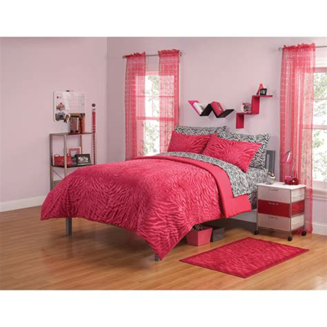 Walmart Bed Sheets by Get The Your Zone Mink Zebra Bedding Comforter Set For