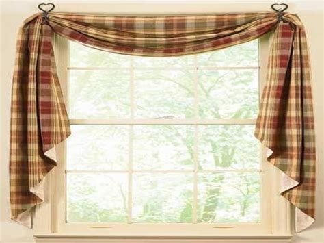 Red Curtain Ideas, Country Kitchen Window Curtains Ideas