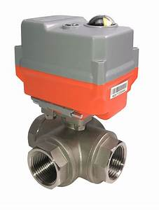 Electric Stainless Steel 3 Way Ball Valve With Ava Basic