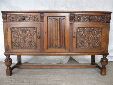 Oak Dressers And Sideboards by Solid Carved Oak Dresser Sideboard With 2 Drawers 247948