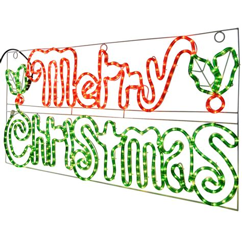 merry light up sign indoor outdoor use rope light