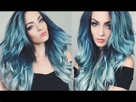 age beautiful hair color directions hair color tutorial blue green ombre hair dye