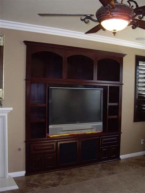 entertainment centers traditional living room orange