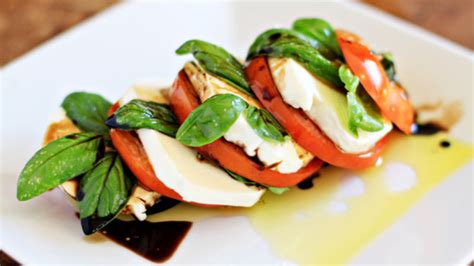 Stacked Caprese Salad with Balsamic Vinegar recipe - from ...