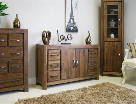 Sideboard In Living Room linea solid walnut home furniture large six drawer living