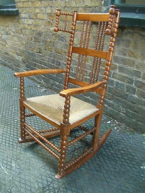 oak framed seat rocking chair 67461