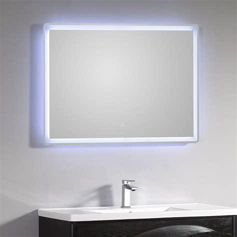 Miroir Salle De Bain Led Miroir Lumineux Salle De Bain Led 115 X 66 Cm Avec Bouton