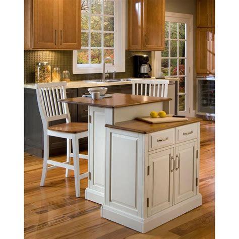 home styles woodbridge white kitchen island  seating