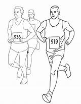 Coloring Running Pages Track Jogging Runners Drawing Colouring Printable Terry Fox Horse Marathon Boy 10k Getdrawings Template Star Getcolorings Colorings sketch template
