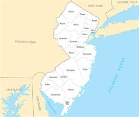 New Jersey Counties Map